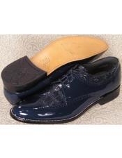 Mens Baldwin Wingtip Blucher Oxford Shoes Navy