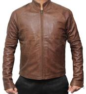 Mens Tom Cruise Suit Leather Jacket Erect Collar