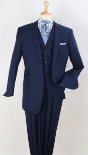 Mens Suit -  100% wool - Classic Fit Suit - Pleated