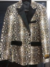 Mens Snakeskin Blazer - Python Print