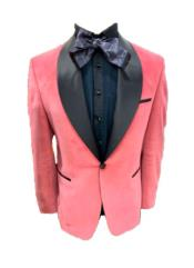 Mens Shawl Lapel One Button Pink