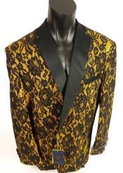 Black and Gold Tuxedo - Gold Blazer