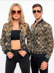 Mens Fashion Bomber Jacket - Sequin Jacket