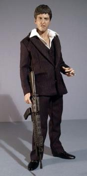 Mens Scarface Suit Shawl Lapel Button Closure Brown Suit