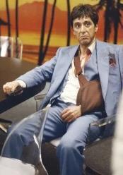 Scarface Blue Suit - Vested Steel Blue Suit