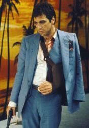 Mens Scarface Blue Suit - Vested Steel Blue Suit
