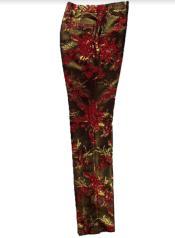 Mens Floral Dress Pants - Fashion Pants -  Paisley Pants
