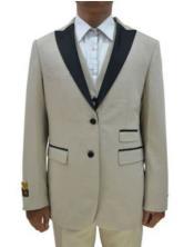 Champagne Tuxedo For Men  - Mens Tan Wedding Suit