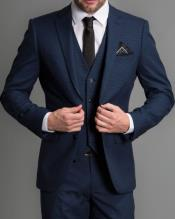 Mens Midnight Blue Suit