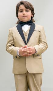 Gold Color Boys Kids Champage Suit