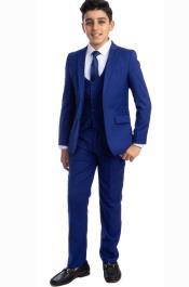 Perry Ellis Boys Suit - Royal Blue Kids Suit - Children Suit