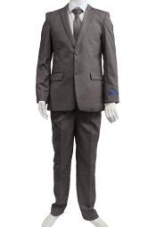 Perry Ellis Boys Suit - Medium Gray Kids Suit - Children Suit