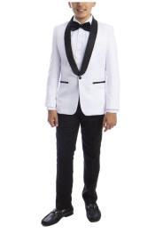 Perry Ellis Boys Suit - White Kids Suit - Children Suit
