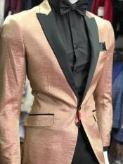 Rose Gold Tuxedo - Rose Gold Mens Blazer