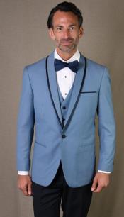 Mens Dusty Blue Tuxedo