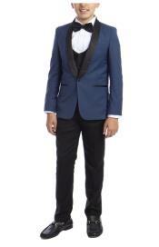 Perry Ellis Boys Suit - Indigo Kids Suit - Children Suit