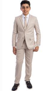 Perry Ellis Boys Suit - Light Tan Kids Suit - Children Suit