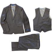 Perry Ellis Boys Suit - Gray Kids Suit - Children Suit