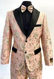 Rose White ~ Black Prom Suit
