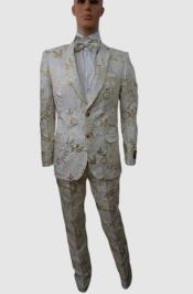Prom Tuxedo For Men - Rose White Prom Suit