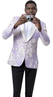 Lavender Tuxedo - Lavender Mens Blazer
