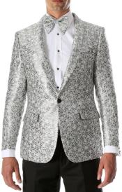 White and Silver Tuxedo - White Dinner Jacket