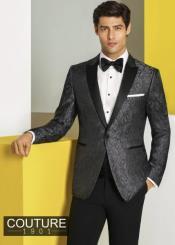 Charcoal Grey Tuxedo - Gray Tuxedo Suit With Black Pants