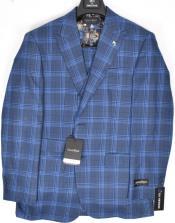 9855-2 Dominique Wilkins Vested Peak Lapel Suit - Plaid Suit 3 Piece