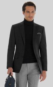 Mens Turtleneck Suit + Free Turtleneck Sweater Package - Black Mens Suit