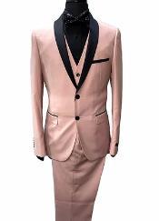 Blush tuxedo - Pink Tuxedo Vested Suit - Prom Wedding Suit