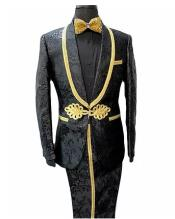 Black and Gold Suit - Paisley Suit