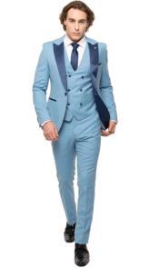 Baby Blue Tuxedo - Sky Blue Tuxedo - Light Blue Tux