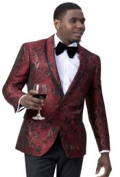 Mens Red and Black Blazer