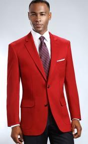 Mens Blazer Red