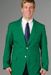 Mens Blazer Green