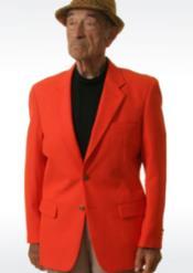 Mens Blazer Orange