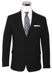 Seersucker Sport coat - Seersucker Blazer Mens Two Button Notch Lapel Black