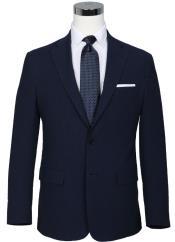 Seersucker Sport coat - Seersucker Blazer Mens Two Button Notch Lapel Navy