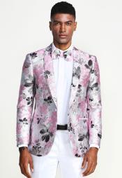 Grey And Pink Wedding Tuxedo