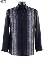 Bassiri Long Sleeve Shirt - Casual Fashion Dress Shirt - Untucked Button