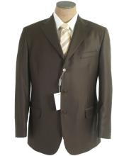 SKU#QP09 Olive Green Men's Single Breasted Discount Dress 2 or 3 Buttons Cheap Suit