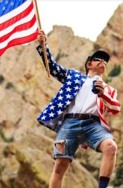 American Flag Blazer - American Flag Sport Coat