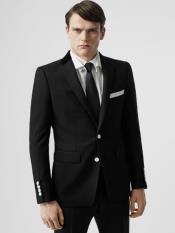 Black Prom Suit - Black Groomsmen Suit - Black Groom Suit With