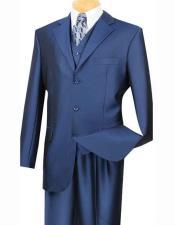Mens Cobalt Blue Suit