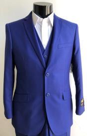 Mens Royal Blue Slim Fit Suit