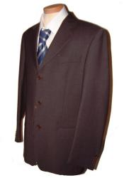 SKU#KGC754 Dark CoCo Brown Men's Single Breasted Discount Dress 2 or 3 Buttons Cheap Suit