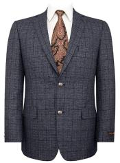 Mens Grey Plaid Blazer - Charcoal Sport Coat