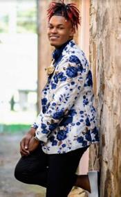 Paisley Floral Sport Coat - Prom Blazer + Matching Bowtie - Tuxedo