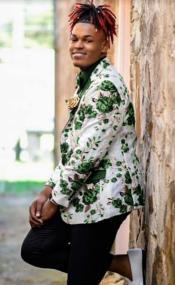 Paisley Floral Sport Coat - Prom Blazer + Matching Bowtie - Tuxedo Jacket