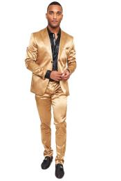 Shiny Gold Suit - Gold Tuxedo